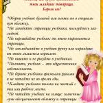 Правила обращения с учебниками